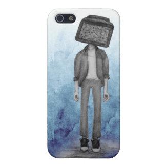 TV Head Phone Case
