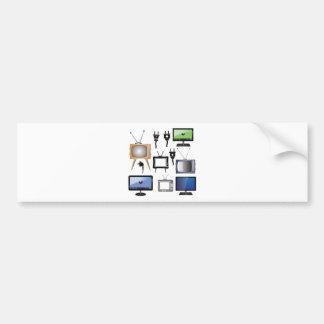 tv icons bumper sticker
