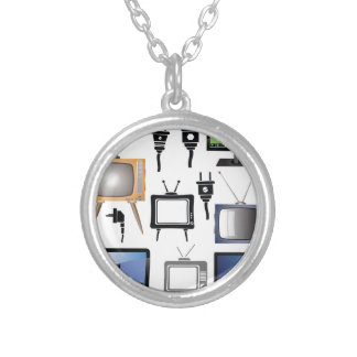 tv icons silver plated necklace