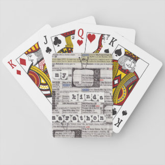 TV Marathon Lover Playing Cards