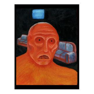 TV Monster Postcard