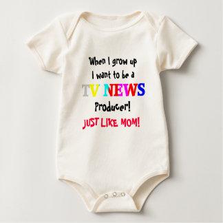TV News Baby Bodysuit