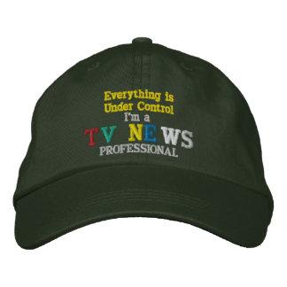 TV News Professional Baseball Cap