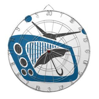 TV Rain Umbrella Forecast Dartboards