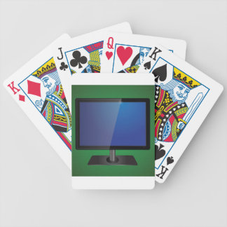 tv screen bicycle playing cards