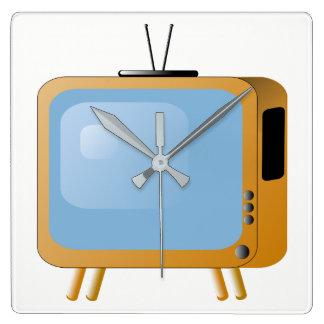 TV Set Square Wall Clock