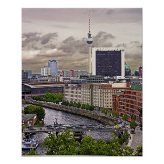 Tv Tower (Fernsehturm), Berlin, Panoramic(tv11pst) Poster