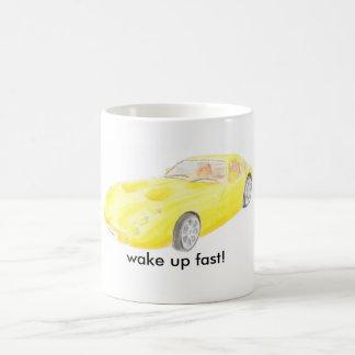 TVR Tuscan yellow car mug, wake up fast Coffee Mug