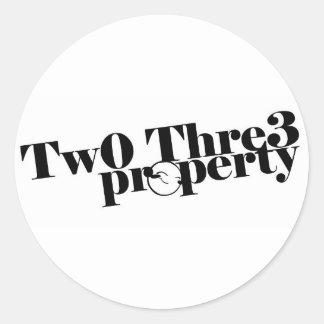 Tw0-Thre3 Property Sticker
