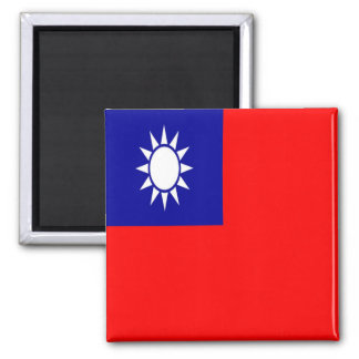 TW - Taiwan Formosa - Flag Square Magnet