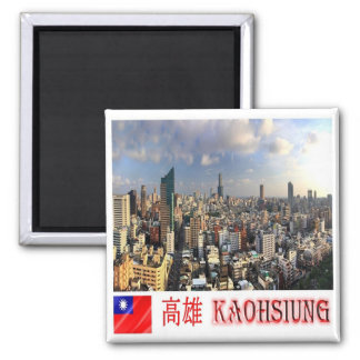 TW - Taiwan Formosa - Kaohsiung Square Magnet