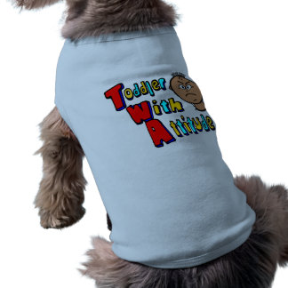 TWA - Toddler With Attitude With Toddler Head Doggie Tee Shirt