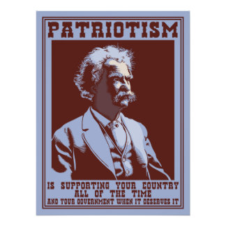 Twain - Patriotism Poster