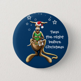 Twas the night before Christmas 2 Inch Round Button