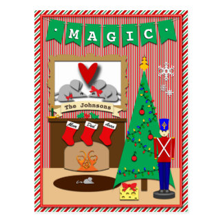 Twas the Night Before Christmas • 3 Stockings Postcard