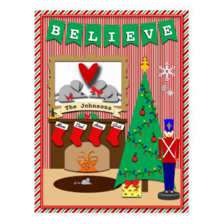 Twas the Night Before Christmas • 4 Stockings Postcard