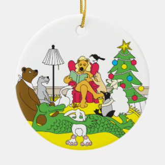 Twas the night before Christmas Ceramic Ornament