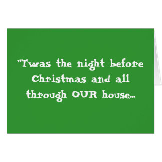 """Twas the night before Christmas ... - Customized Card"