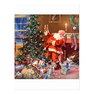 Twas The Night Before Christmas Postcard