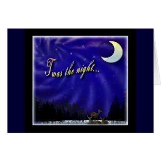 Twas the night card