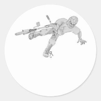 Tweaked Classic Round Sticker