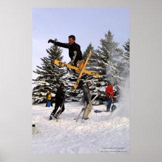 Tweaked Ski Grab Poster