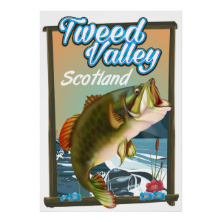 Tweed Valley Scotland Fishing poster