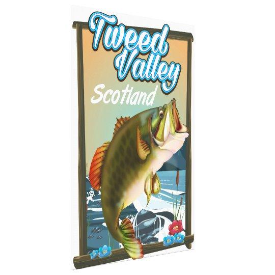 Tweed Valley Scotland Fishing poster Canvas Print