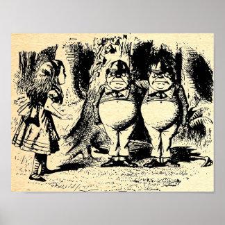 Tweedle Dee and Tweedle Dum Alice Poster