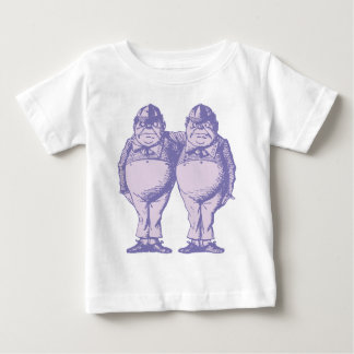 Tweedle Dee and Tweedle Dum Inked Lavender Baby T-Shirt