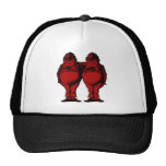 Tweedle Dee and Tweedle Dum Inked Red Fill Mesh Hats