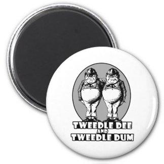 Tweedle Dee and Tweedle Dum Logo 2 Inch Round Magnet