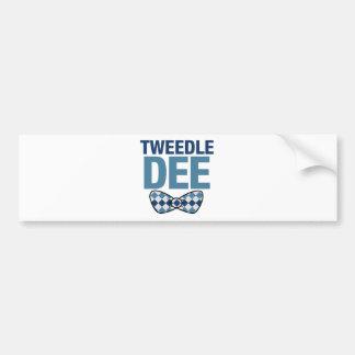 TWEEDLE DEE BUMPER STICKER
