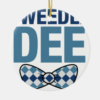 TWEEDLE DEE CERAMIC ORNAMENT