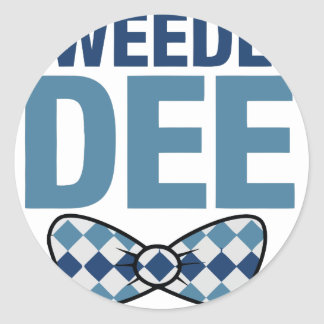 TWEEDLE DEE CLASSIC ROUND STICKER