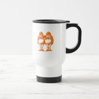 Tweedle Dee & Tweedle Dum in Orange Red Travel Mug