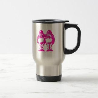 Tweedle Dee & Tweedle Dum in Purple Pink Travel Mug