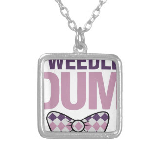 tweedle dum silver plated necklace