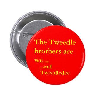 Tweedledee 2 Inch Round Button