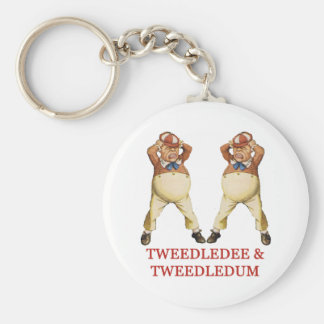 TWEEDLEDEE & TWEEDLEDUM IN WONDERLAND KEYCHAIN