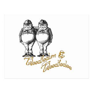 Tweedledum & Tweedledee Postcard