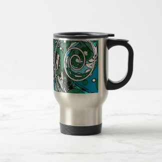 Tween Circles - Abstract Design 15 Oz Stainless Steel Travel Mug
