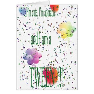 tween de joyeux anniversaire carte de vœux