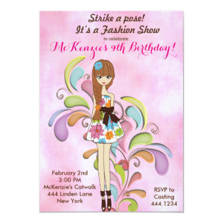 Tween Girl Fashion Birthday Invitation