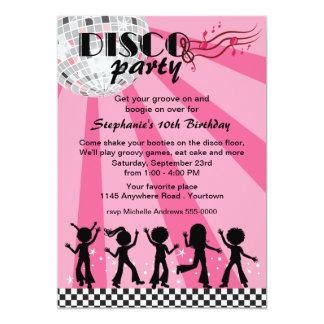 Tween Girls Disco Birthday Card
