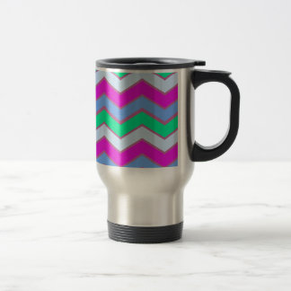 Tween Popping Chevron 15 Oz Stainless Steel Travel Mug