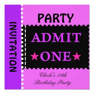 Tweens de l'adolescence de filles de fête carton d'invitation  13,33 cm