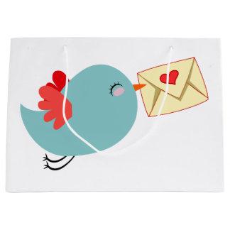 Tweet Bird love message valentines gift bag