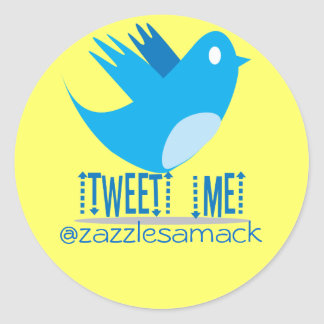 Tweet ME @ Your Tweet Address Classic Round Sticker