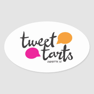 Tweet Tarts Oval Sticker
